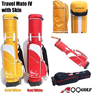A99golf Travel Mate IV CarryOn Travel Cover Tavel golf bag With TSA Red/wht