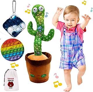 Dancing Cactus Repeats, Adjustable Volume Talking Cactus, Recording Cactus with Lighting, Singing Cactus Recording,Mimicki...