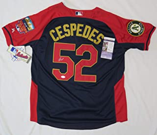 Yoenis Cespedes Autographed Signed 2014 MLB Authentic Collection All Star Game Jersey Memorabilia JSA