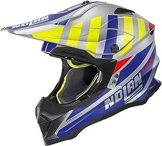 Nolan N53 Cliffjumper Motocross Helm Grau/Blau XXXL 64