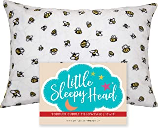 Little Sleepy Head Toddler Pillowcase - Cuddle Collection (busy Bees), White/Yellow, 13 x 18 Inch