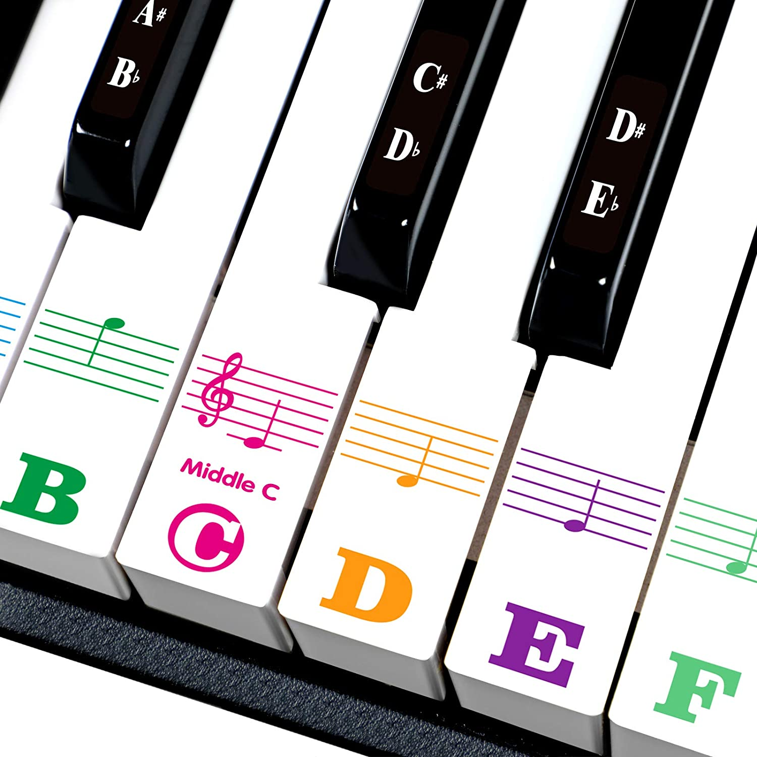 Piano keys Stickers for 88 61 Transparent Removabl 37 49 54 Key. Super intense Ranking TOP4 SALE