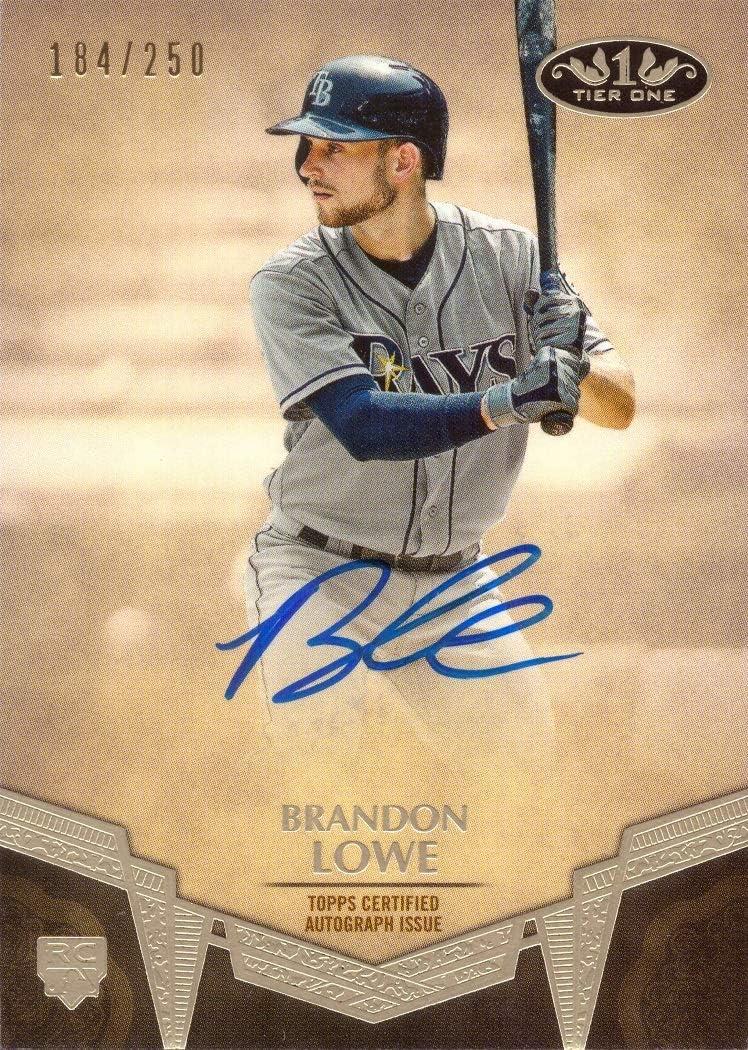 2019 Topps Tier High order One Baseball Lowe Certified #BA-BL Autog Elegant Brandon