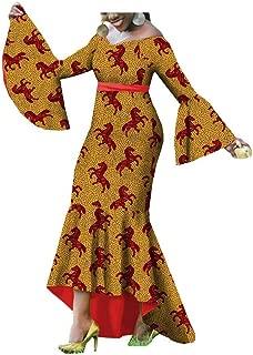 Traditional African Fabric Dresses for Women Girls Ankara Handmade Summer Dashiki Mermaid Ruffles