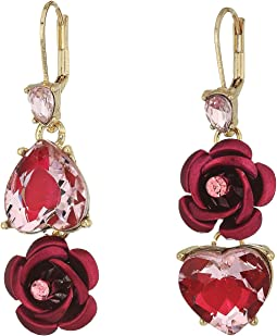 Pink and Gold Non-Matching Heart Earrings
