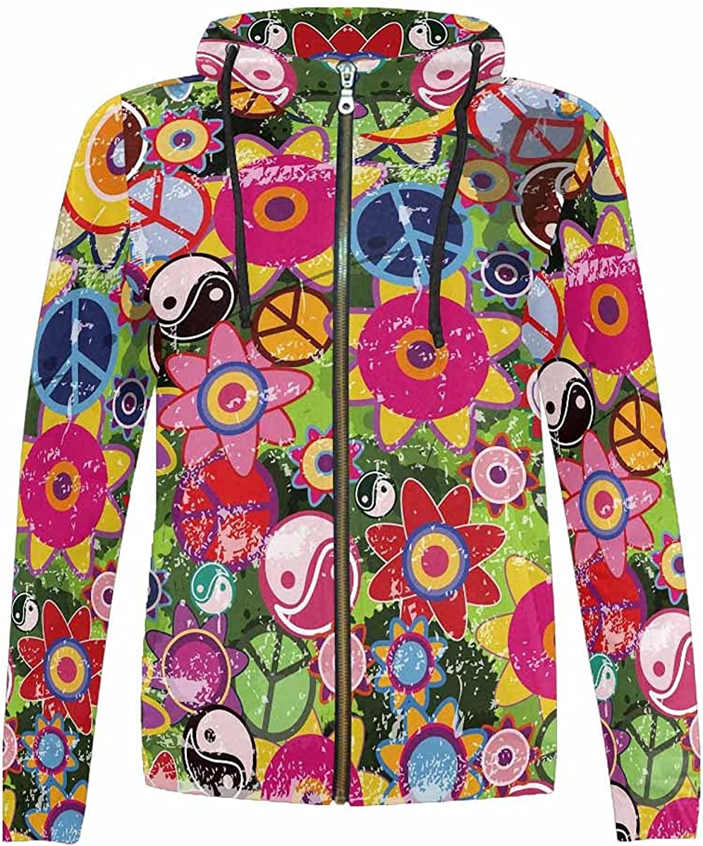 InterestPrint Colorful Guitar Pedals Full Zip Hoodie for Gi Spring new work Boys Long-awaited