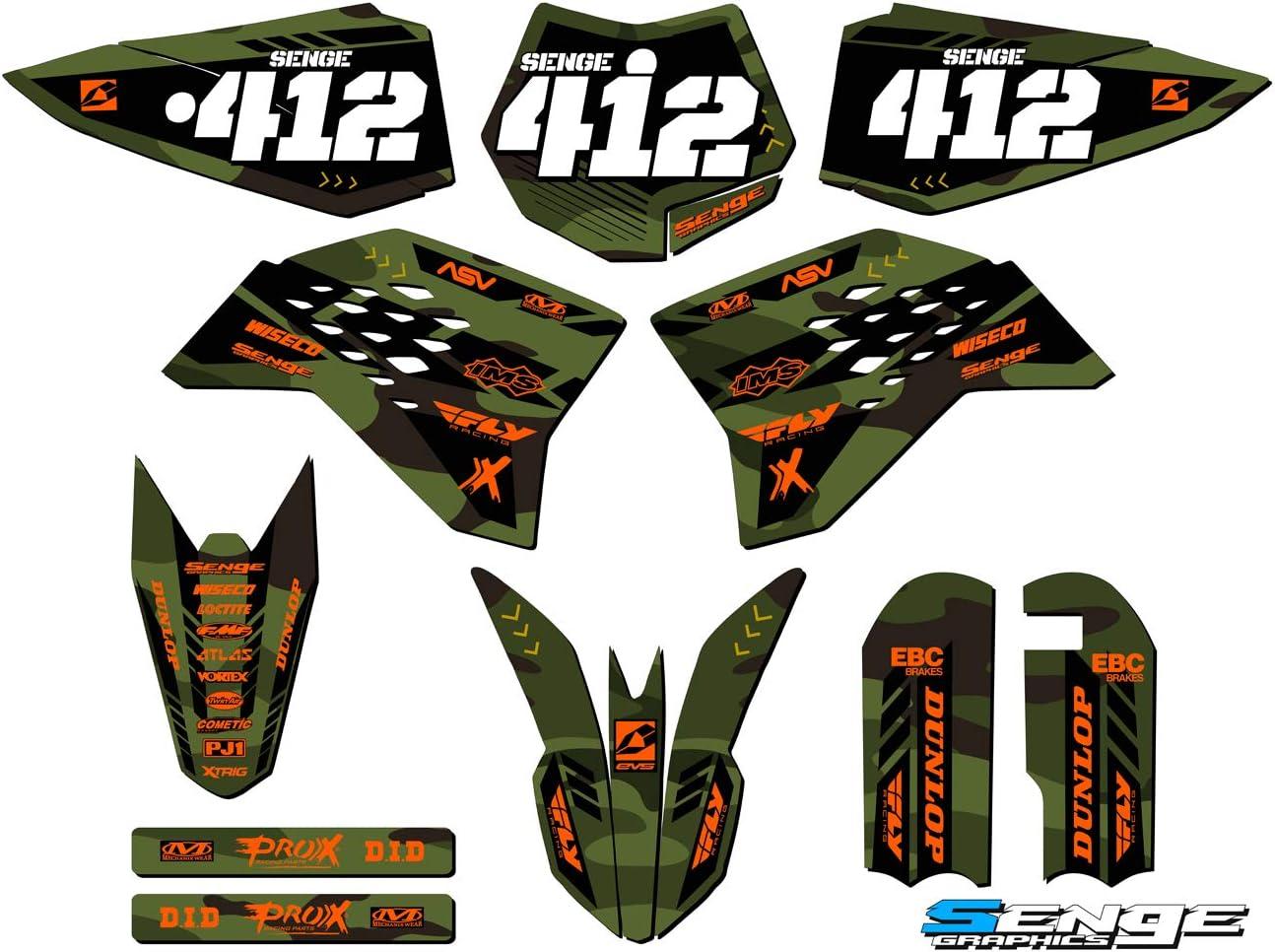 Apache Green Base Senge Graphics kit 2009-2015 SX 50 Compatible with KTM