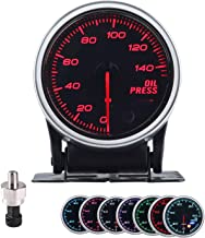 """Sponsored Ad - Oil Pressure Gauge Car 2-1/16"""" 52mm 7 Color Meter 0-140PSI with Press Alarm, Includes Electronic Sensor and..."""