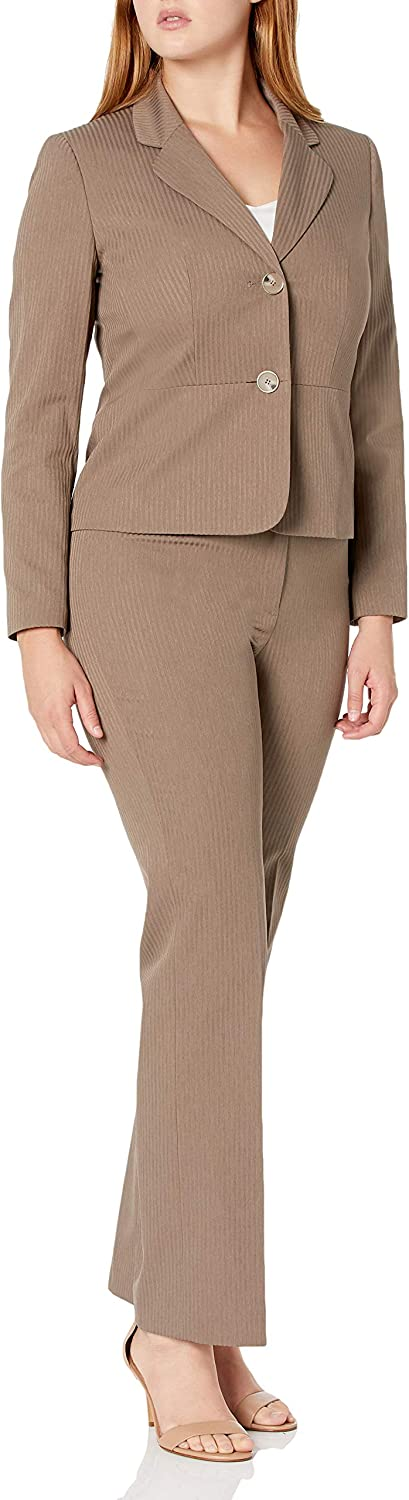 Le Suit Women's Direct sale of manufacturer All items in the store 2 Button Linear Pant Collar Notch Texture
