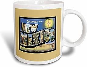 3dRose mug_170357_2 Greetings from New Mexico Scenic Postcard Reproduction Ceramic Mug, 15-Ounce