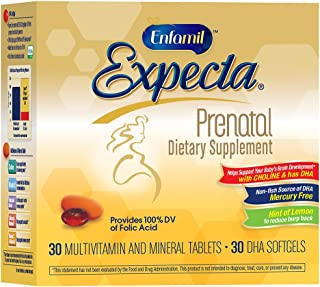 Enfamil Expecta Prenatal Multivitamin and DHA Dietary Supplement, 60 tablets (30 day supply)
