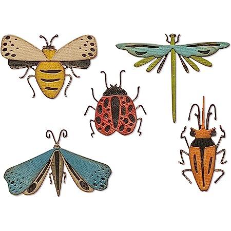 Sizzix 665364 Matrice de decoupe Thinlits Insectes Funky par Tim Holtz, Multicolore, taille unique