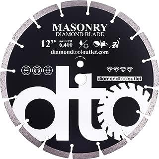 dto SGP12P 12-Inch Premium Diamond Segmented Saw Blade for General Purpose, Masonry, Concrete, Brick, 1-Inch Arbor, Wet or Dry Cutting, 6400 Max. RPM, 12mm (.472