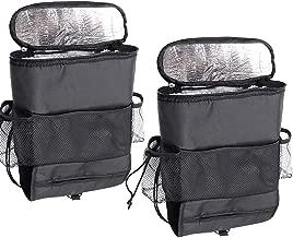 Sywwlov 2 Packs Auto Car Seat Back Organizer Multi-Pocket Large Capacity Travel Insulated Storage Bag Hanger,Heat-Preservation (15.6x11.7(Heat-Preservation))