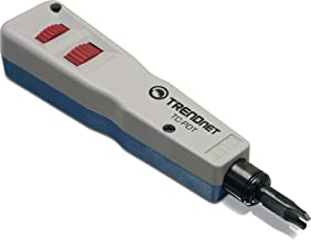 TRENDnet Punch Down Tool with 110 and Krone Blade, TC-PDT, Insert & Cut Terminations in one Operation, Precision Blades are Interchangeable & Reversible, Network Punch Tool, 110 Punch Down Tool