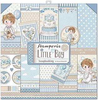 """Stamperia Bloc Papier Scrap double Face 10 feuilles 30,5x30,5 (12""""x12"""") - Little Boy multicolore SBBL68"""