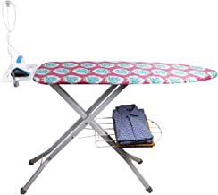 Parasnath Prime Square Steel Mash Wire Folding Ironing Board with Tray/Wire Manager and Aluminised Surface-Multi Colour (Made in India) Limited Time Offer
