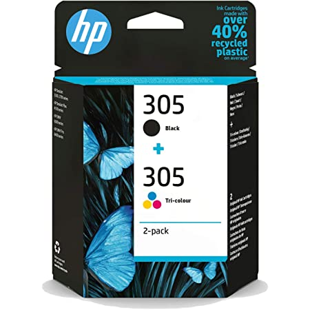 HP 305 2-pack Black/Tri-colour Original Ink Cartridges (6ZD17AE)