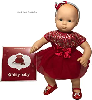 """American Girl Bitty Baby Deck The Halls Dress for 15"""" Dolls (Doll Not Included)"""