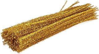 TOYANDONA 100Pcs Glitter Chenille Hastes Limpador de Cachimbo Criativo Bending 30 Centímetros para DIY Artesanato Decoraçã...