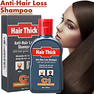 Hair Loss Products Hair Thick Dexe 100ml C1 Anti-hair Loss Shampoo with Hair Growth Serum for Men