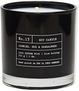 Jasmine, Oud & Sandal Wood | Luxury Scented Soy Jar Candle | Hand Poured in The USA | Highly Scented & Long Lasting | 9 Oz.