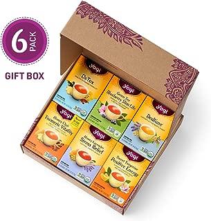 Yogi Tea - Yogi Favorites Variety Pack in Gift Box Packaging - Includes 6 of the Most Popular Yogi Teas - 6 Pack, 96 Tea Bags Total