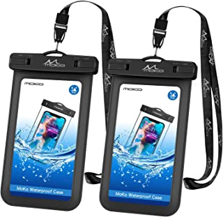 Universal Waterproof Phone Case, [2 Pack] MoKo Waterproof Phone Pouch Dry Bag with Neck Strap for iPhone 11/11 Pro/11 Pro Max/X/Xs/Xr//Xs Max, 8/7/6s Plus, Samsung S10/S9/S8 Plus, Note 10/9/8
