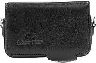 MegaGear Protective Leather Black Camera Case, For Canon S110, SX260, SX280 / Panasonic ZS25, ZS20, ZS7, LX7 / Nikon Coolpix P330, P310 / Sony DSC-HX55, DSC-HX30V, DSC-HX-50V / Sony RX100, Rx100 II