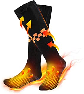 Heated Socks for Men/Women - Double 5000Ahm Large Capacity Socks with 4 Heating Settings, Rechargeable Electric Feet Warme...