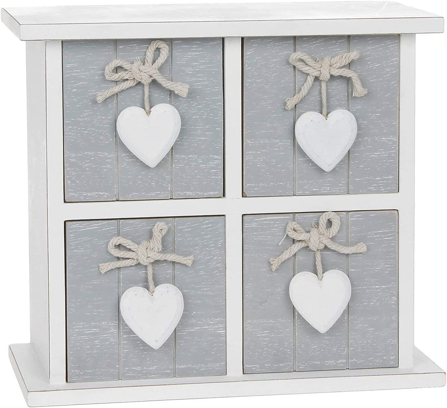 Provence Grey 4 Drawer Square Chest by Shudehill