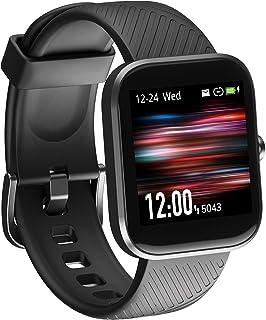 Reloj inteligente, Virmee Fitness Activity Tracker con monitor de frecuencia cardíaca, medidor de oxígeno en sangre, seguimiento de pasos de sueño, IP68 impermeable, para hombres y mujeres, compatible con iPhone Samsung teléfonos Android