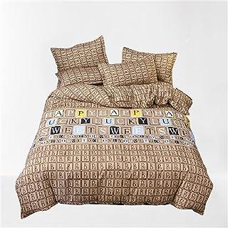 CCBAO Literie Impression Textile De Maison Housse De Couette Mode Simple Ambiance Doux Confortable Et Facile À Nettoyer 4 ...