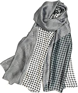 Shanlin Silk Feel Long Satin Patterned & Solid Color Scarves for Women in Gift Box