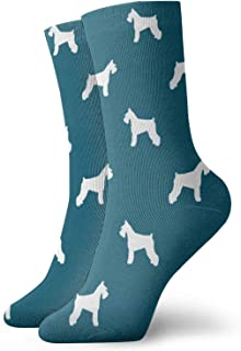 Nother, Schnauzer Silhouette Dogs - Calcetines cortos unisex cómodos y ligeros