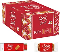 Lotus Biscoff Classic Biscuits, Unique Taste, Great with Coffee, All Natural Ingredients, 300 Pack, 1.875 kg
