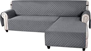 Sofa Cover L Shape Couch Cover for Sectional Sofa Chaise Lounge Sofa Cover Reversible Sofa Slipcover Non-Slip Water Resist...