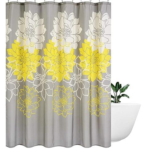 Superbe Wimaha Peony Flower Fabric Shower Curtain Mildew Resistant Waterproof  Standard Shower Bath Curtain For Bathroom Yellow