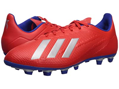 adidas X 18.4 FG (Active Red/Silver Metallic/Bold Blue) Men