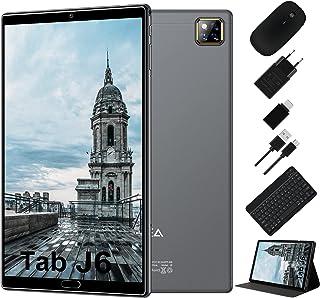 Tablet 10 Pulgadas Android 10.0 - RAM 4GB | ROM 64GB - WiFi - Octa Core (Certificación Google GMS) -JUSYEA Tableta - Batería de 6000mAh —Ratón | Teclado y Otros (Gris)