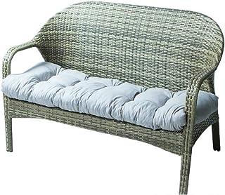 Bomoya Cojín de banco largo, cojín de banco suave, con lazo fijo, largo rectangular, para tumbona, muebles de jardín, tumbona, 130 x 50 cm
