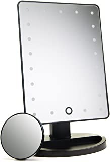 Natural Daylight Lighted Makeup Mirror / Vanity Mirror with Touch Screen Dimming, Detachable 10X...