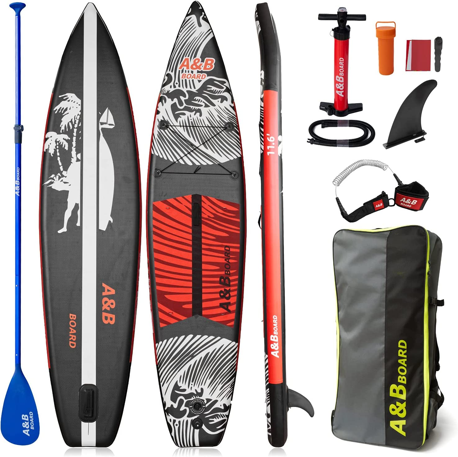 ABBOARD Inflatable Industry No. 1 Stand Max 85% OFF Up Paddle P Board,10'6''x32''x6''