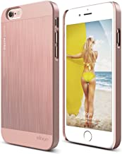 elago Outfit MATRIX Aluminum and Polycarbonate Dual Case for the iPhone 6/6S Plus (5.5inch) + HD Professional Screen Film included - Full Retail Packaging (Rose Gold)