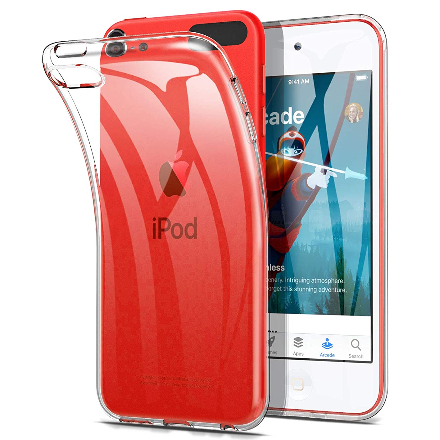 アナログ解くタイヤiPod touch 7 /iPod touch 6 ケース ELTD Apple iPod touch 第7世代/ 第6世代モデル用クリアケース TPU ソフト バンパー 黄変防止 初期不良返金/返品対応