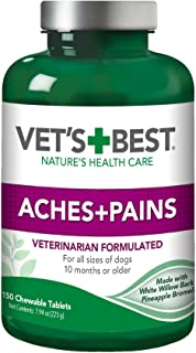 Vet's Best Aspirin Free Aches + Pains Dog Supplement | Vet Formulated for Dog Pain Support and Joint Relief | 150 Chewable...