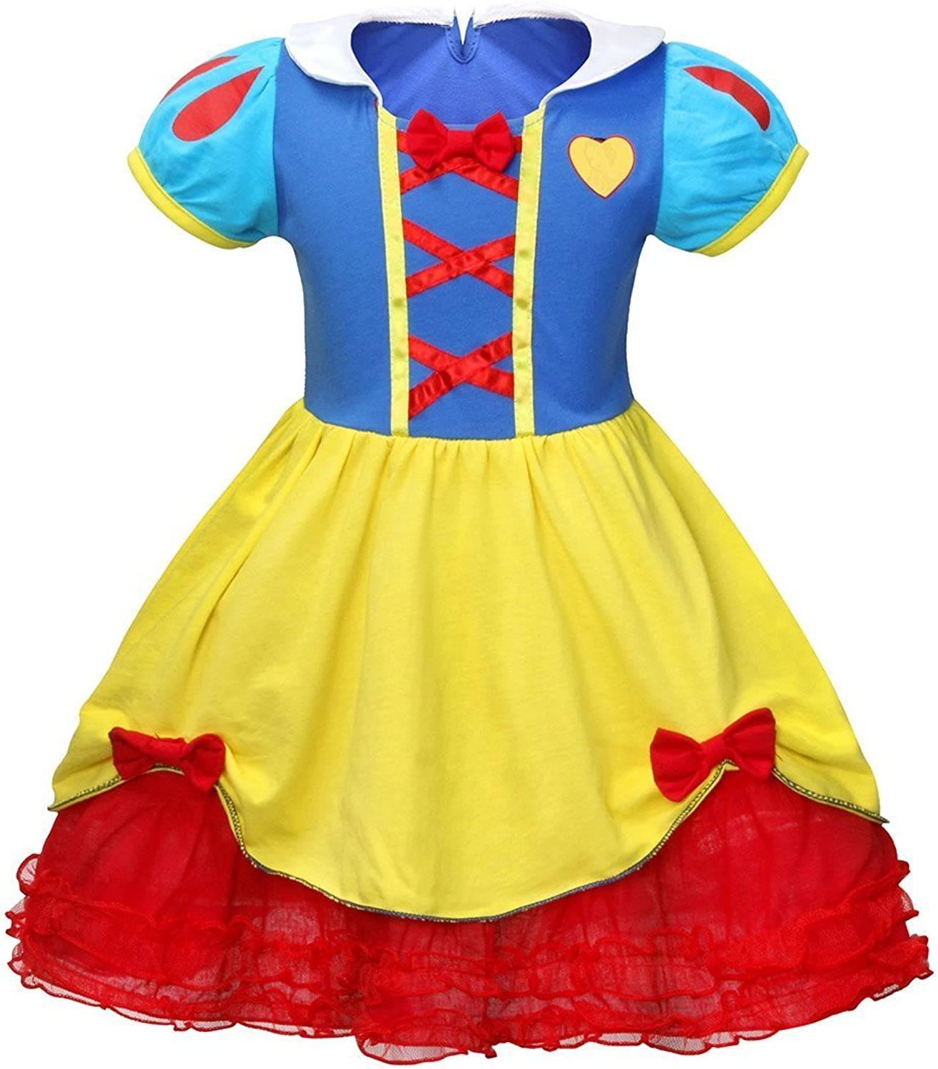 Jurebecia Girls Princess Snow White Dress up Halloween Costumes Party Dresses 16 Years