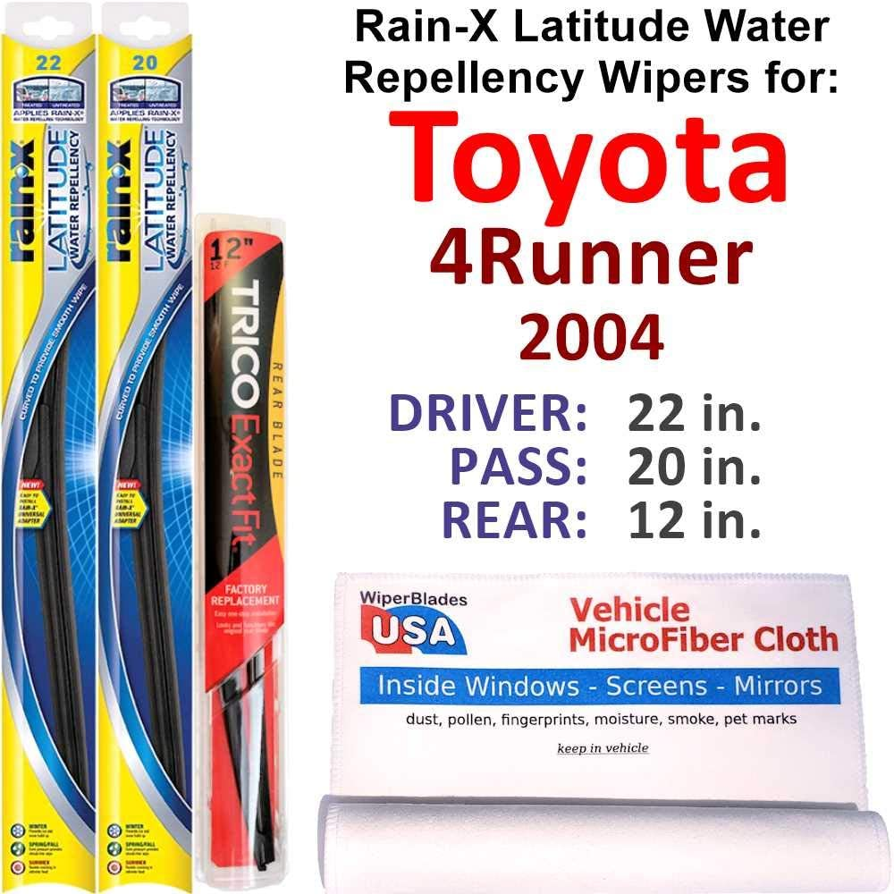 Phoenix Mall Rain-X Latitude Beam w Limited Special Price Water Repellency 2004 Toyota 4Runner for