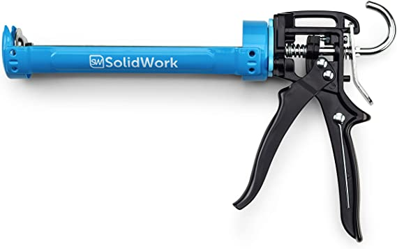 SolidWork professional Caulk Gun with highest 26:1 leverage - Caulking Gun for processing all 10oz sealing and adhesive cartridges