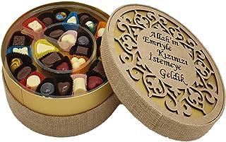 Kız İsteme Karma Dolgulu Special Çikolata Kutusu ( 400 gr ) Hasır
